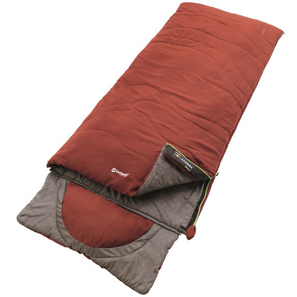 Outwell Contour Sleeping Bag ochre red
