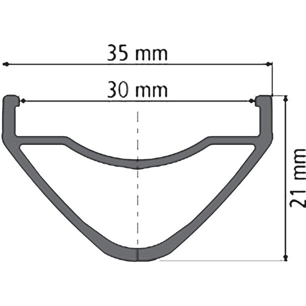 "DT Swiss XM 1501 Spline One Laufrad 27,5""/25mm VR Alu 100/15mm schwarz"