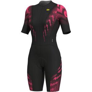 Alé Cycling R-EV1 Pro Race 2.0 SS Unitard Women black flou pink