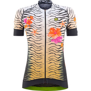 Alé Cycling Graphics PRR Savana SS Jersey Damen white-gold-flou orange white-gold-flou orange