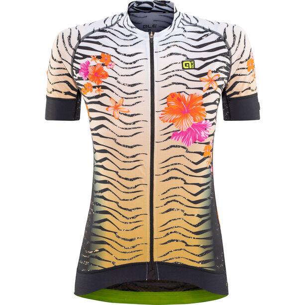 Alé Cycling Graphics PRR Savana SS Jersey Damen white-gold-flou orange