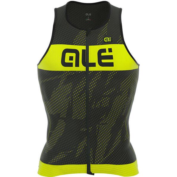 Alé Cycling Triathlon Record Tri Top Men black-fluo yellow