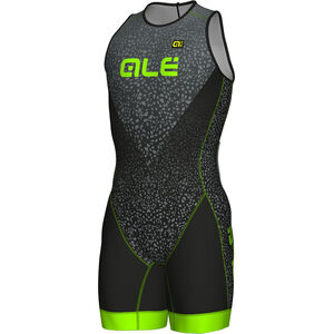 Alé Cycling Olympic Triathlon Kilawea SS Skinsuit Men black-grey-fluo green