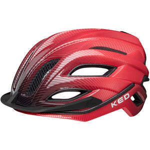 KED Champion Visor Helmet red black red black