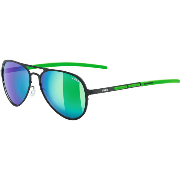 UVEX LGL 30 Pola Lifestyle Glasses black green/mirror gree