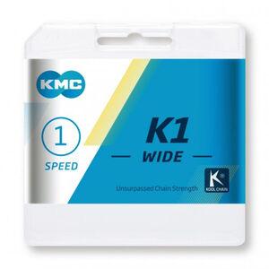 KMC K1 Kette 1-fach silber/schwarz silber/schwarz