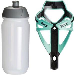 Tacx Deva/Shiva Trinkflasche + Halter celeste/transparent bei fahrrad.de Online