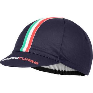 Castelli Rosso Corsa Cycling Cap Herren dark/stel blue dark/stel blue
