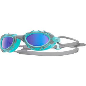 TYR Nest Pro Nano Goggles Metelized blue/mint blue/mint