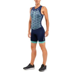 2XU Active Trisuit Damen navy/aqua splash print
