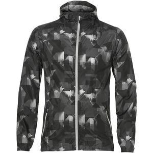 asics fuzeX Packable Jacket Herren paint geo dark grey paint geo dark grey