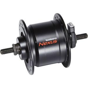 Shimano Nexus DH-C3000-3N Nabendynamo 3 Watt für Felgenbremse/Schraubachse schwarz schwarz