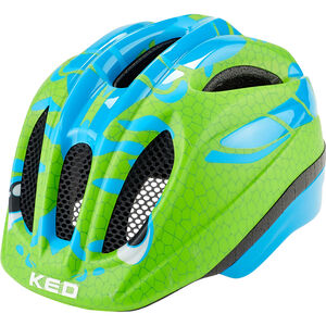KED Meggy Trend Helmet Kinder dino light blue green dino light blue green