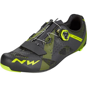 Northwave Storm Carbon Shoes Herren black/yellow fluo black/yellow fluo