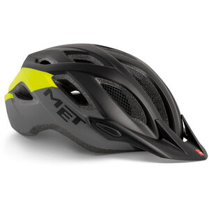 MET Crossover Helm black safety yellow black safety yellow