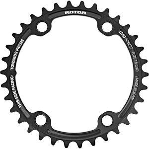 Rotor Aldhu Kettenblatt 110x4 innen rund schwarz/matt schwarz/matt