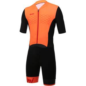 Santini Redux Trisuit SS Herren arancio fluo arancio fluo