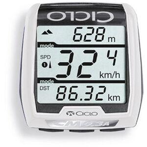 Ciclosport CM 9.3A Fahrradcomputer mit Höhenmessung weiß