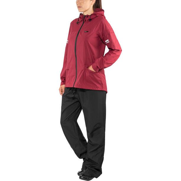 AGU Original Rain Suit maroon/black