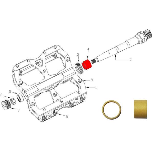 Reverse DU Bushing Ersatzteil für Escape Pedal 2-tlg beige