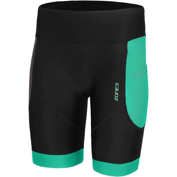 Zone3 Aquaflo+ Tri Shorts Damen black/grey/mint