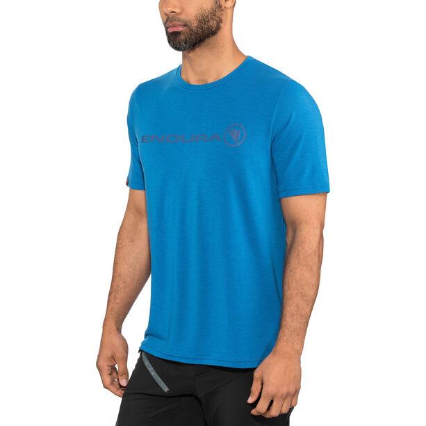 Endura SingleTrack Merino T-Shirt Herren azurblau