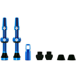 Muc-Off MTB & Road Tubeless Valve Kit 60mm blue blue
