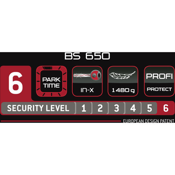 Trelock BS 650 Bügelschloss schwarz