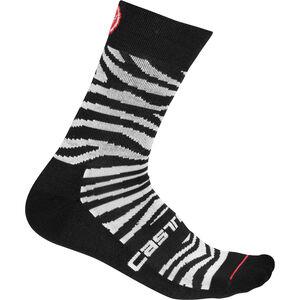 Castelli Safari 15 Socken Damen zebra black/white zebra black/white