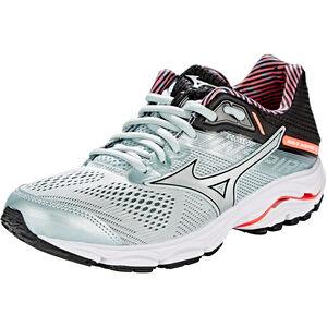 Mizuno Wave Inspire 15 Shoes Damen sky gray/silver/fiery coral sky gray/silver/fiery coral