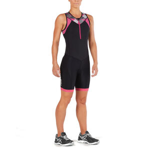 2XU Active Trisuit Women black/retro pink peackock