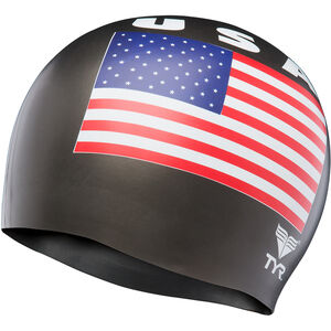 TYR USA Silicone Cap black black
