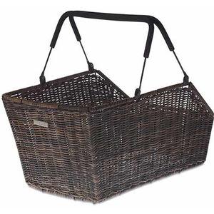 Basil Cento Rattan Look Rear Wheel Basket Bag nature brown nature brown