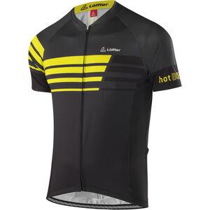 Löffler Hotbond Reflective Bike Jersey Full-Zip Herren schwarz/zitrone schwarz/zitrone