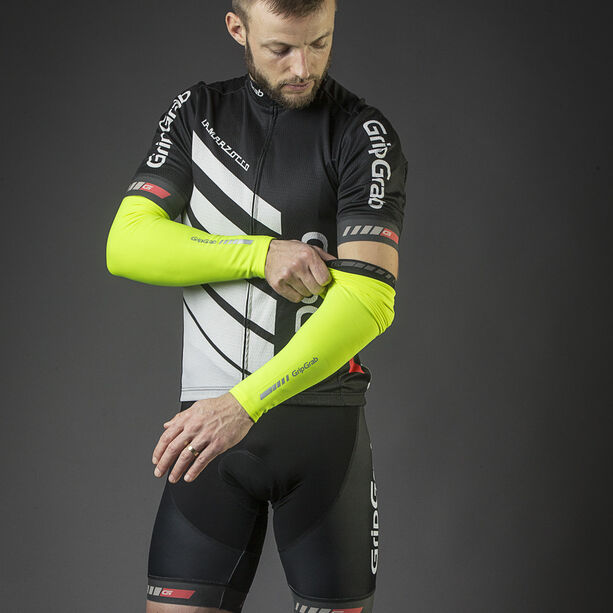 GripGrab Classic Thermal Hi-Vis Arm Warmers fluo yellow
