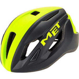 MET Strale Helm black/safety yellow panel black/safety yellow panel