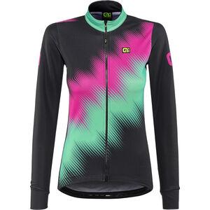 Alé Cycling Solid Pulse Longsleeve Jersey Women black-magenta-green bei fahrrad.de Online