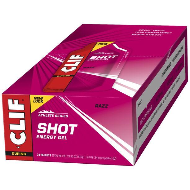 CLIF Bar Shot Gel Box 24x34g Razz/Himbeere