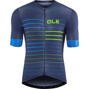 Alé Cycling Solid Ergo SS Jersey Herren blue-flou green blue-flou green