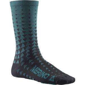 Mavic Ksyrium Merino Graphic Socks majolica blue majolica blue