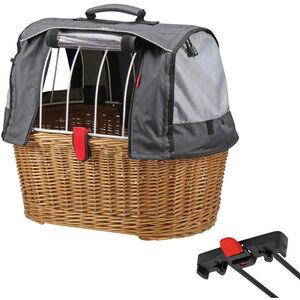 KlickFix Doggy Basket Plus für Racktime braun
