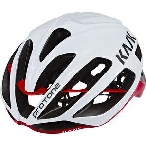 Kask Protone Helm weiß/rot weiß/rot