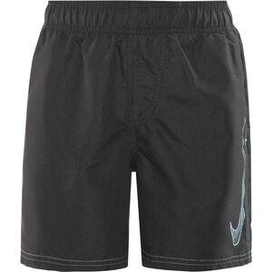 "Nike Swim Big Swoosh Logo Volley Shorts Boys 4"" Black"
