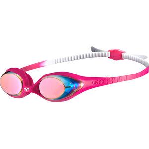 arena Spider Mirror Goggles Kinder white-pink-fuchsia white-pink-fuchsia