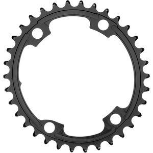 absoluteBLACK Road Ovales Kettenblatt 2-fach 110BCD für Shimano 9100/8000 black black