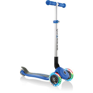 Globber Primo Foldable Lights Roller mit Batterielosen LED Rollen Kinder navy blue navy blue