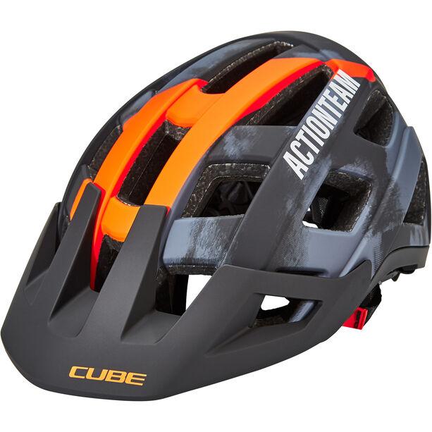 Cube Badger X Actionteam Helm grey/orange