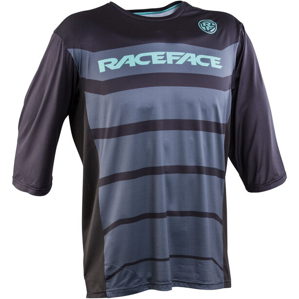 Race Face Indy 3/4 Sleeve Jersey Herren black