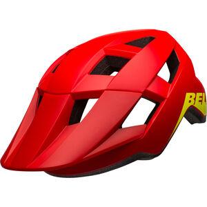 Bell Spark Helmet Kinder matte/gloss red/hi-vis matte/gloss red/hi-vis