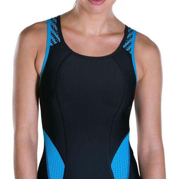 speedo Speedo Fit PowerMesh Pro Swimsuit Damen black/winsdor blue/white